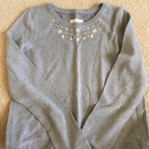 jeweled hollister sweatshirt